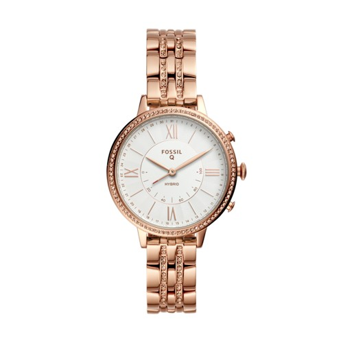 fossil Hybrid Smartwatch - Jacqueline Rose Gold-Tone Stainless Steel FTW5034