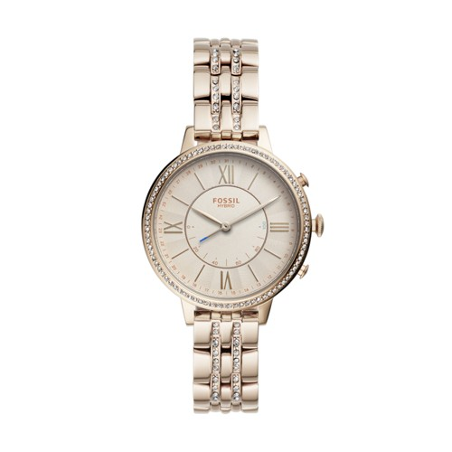 fossil Hybrid Smartwatch - Jacqueline Pastel Pink Stainless Steel FTW5036
