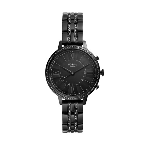 fossil Hybrid Smartwatch - Jacqueline Black Stainless Steel FTW5037
