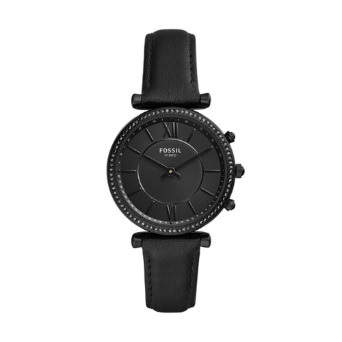 fossil Hybrid Smartwatch - Carlie Black Leather FTW5038