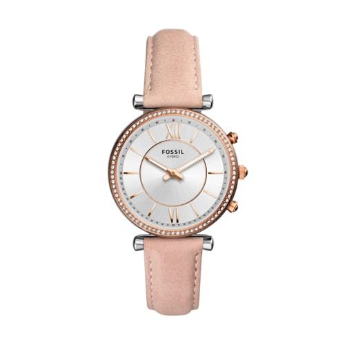 fossil Hybrid Smartwatch - Carlie Blush Leather FTW5039