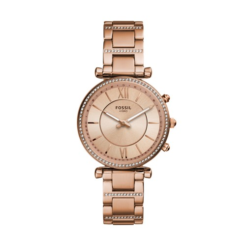 fossil Hybrid Smartwatch - Carlie Rose Gold-Tone Stainless Steel FTW5040
