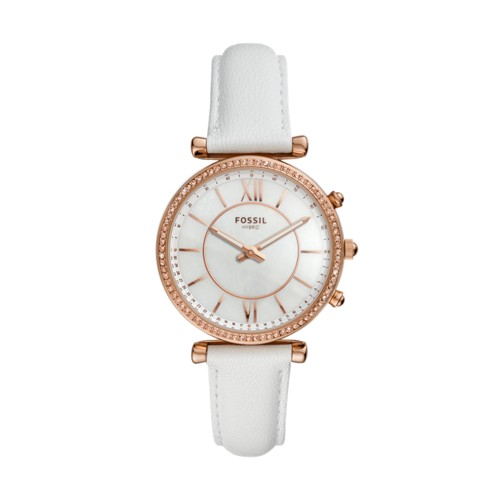 fossil Hybrid Smartwatch - Carlie White Leather FTW5043