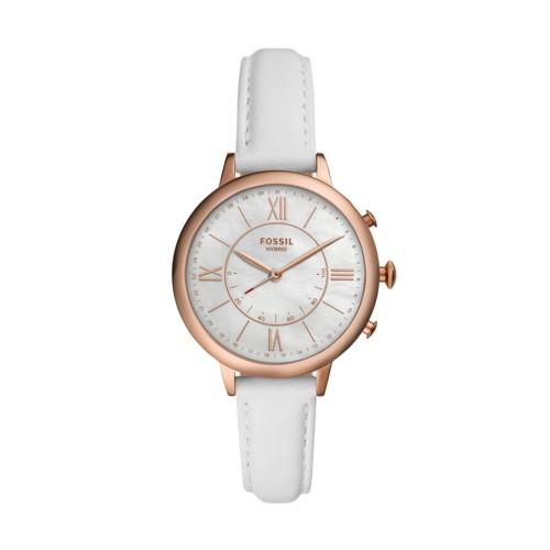 fossil Hybrid Smartwatch - Jacqueline White Leather FTW5046