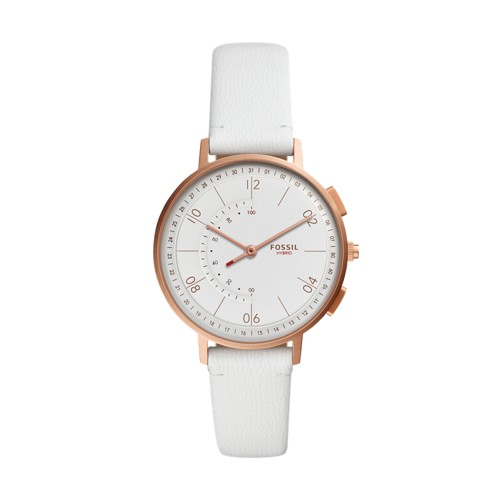 fossil Hybrid Smartwatch - Harper White Leather FTW5048
