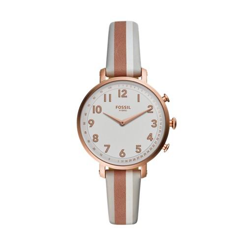 8362566a0f05 fossil Hybrid Smartwatch - Cameron Gray Stripe Leather FTW5049