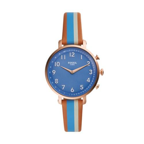Hybrid Smartwatch - Cameron Blue Stripe Leather FTW5050