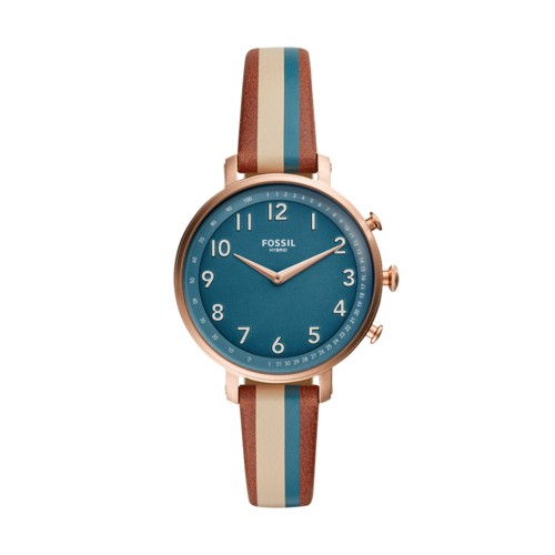 fossil Hybrid Smartwatch - Cameron Green Stripe Leather FTW5053