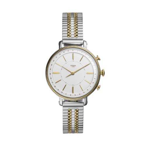 Hybrid Smartwatch - Cameron Two-Tone Gold and Silver Stainless Steel FTW5057
