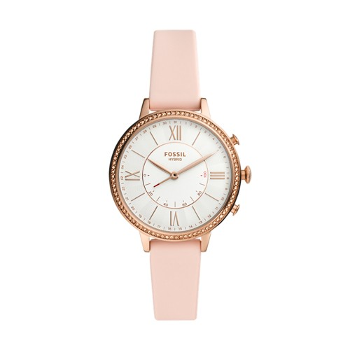Fossil Hybrid Smartwatch Jacqueline Blush Silicone  jewelry