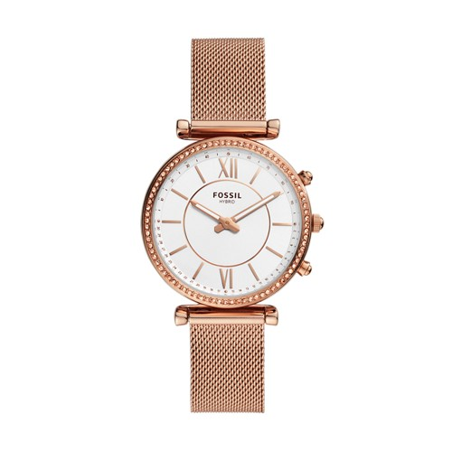 Hybrid Smartwatch Carlie Rose Gold-Tone Stainless Steel FTW5060