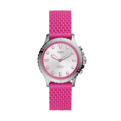 Fossil Hybrid Smartwatch Fb-01 Hot Pink Silicone  jewelry