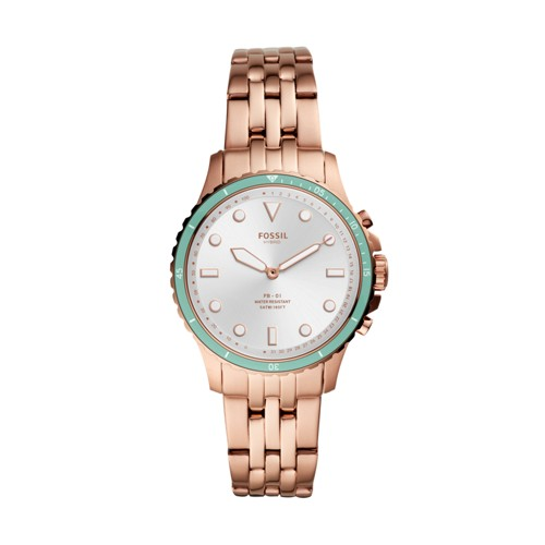 Hybrid Smartwatch FB-01 Rose Gold-Tone Stainless Steel FTW5068