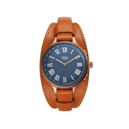 Fossil Hybrid Smartwatch Eleanor Tan Leather  jewelry