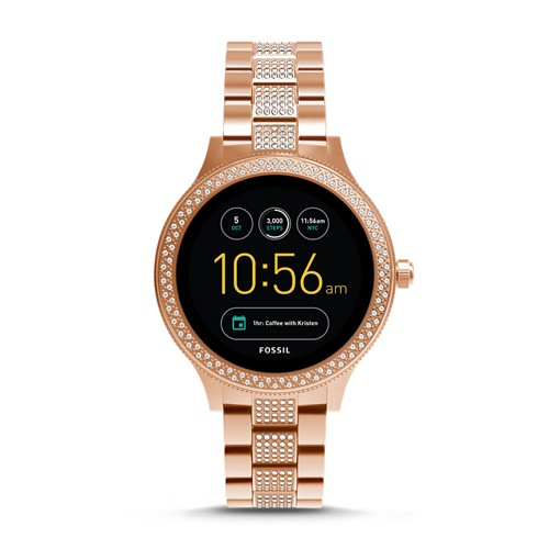 Fossil REFURBISHED Gen 3 Smartwatch - Q Venture Rose Gold-Tone Stainless Steel FTW6008J