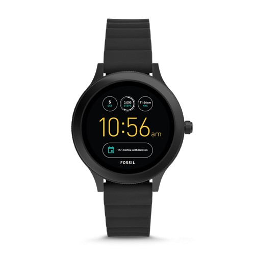 Fossil REFURBISHED Gen 3 Smartwatch - Q Venture Black Silicone FTW6009J