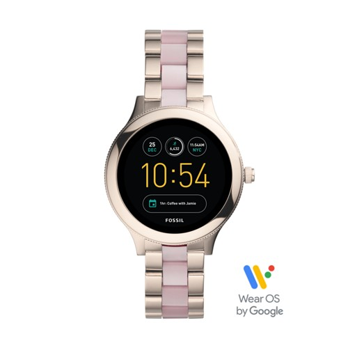 Fossil Gen 3 Smartwatch - Q Venture Pink Stainless Steel and Acetate FTW6010