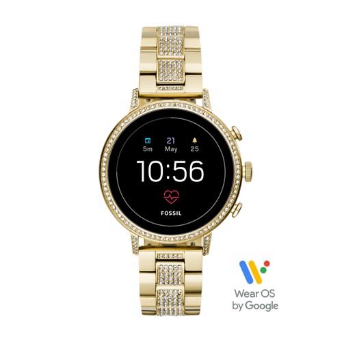 fossil Gen 4 Smartwatch - Venture HR Gold-Tone Stainless Steel FTW6012