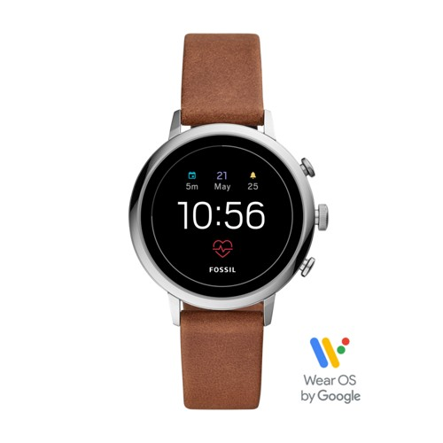 fossil Gen 4 Smartwatch - Venture HR Brown Leather FTW6014