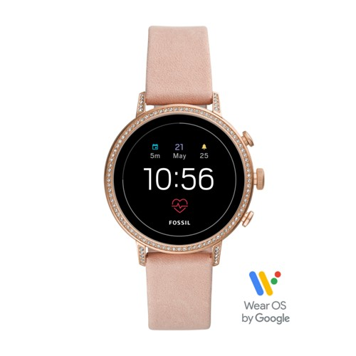 fossil Gen 4 Smartwatch - Venture HR Blush Leather FTW6015
