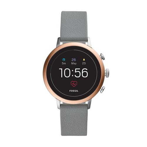 fossil REFURBISHED - Gen 4 Smartwatch - Venture HR Gray Silicone FTW6016J