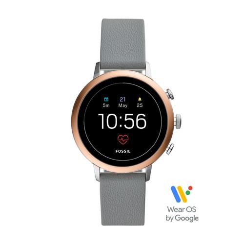 fossil Gen 4 Smartwatch - Venture HR Gray Silicone FTW6016