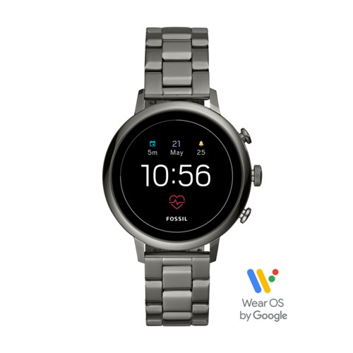 fossil Gen 4 Smartwatch - Venture HR Smoke Stainless Steel FTW6019