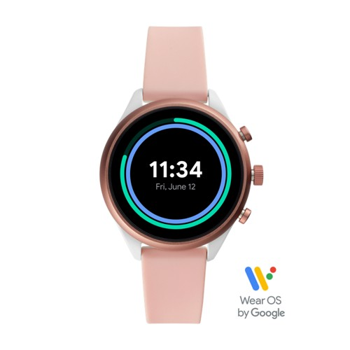 fossil Fossil Sport Smartwatch - Blush Silicone FTW6022