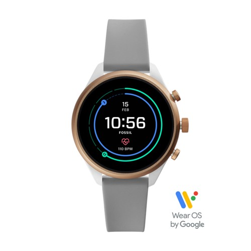 fossil REFURBISHED - Fossil Sport Smartwatch - 41mm Gray Silicone FTW6025J