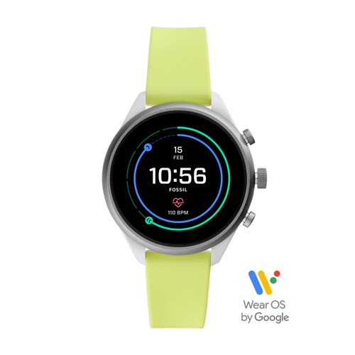 fossil REFURBISHED - Fossil Sport Smartwatch - 41mm Neon Silicone FTW6028J