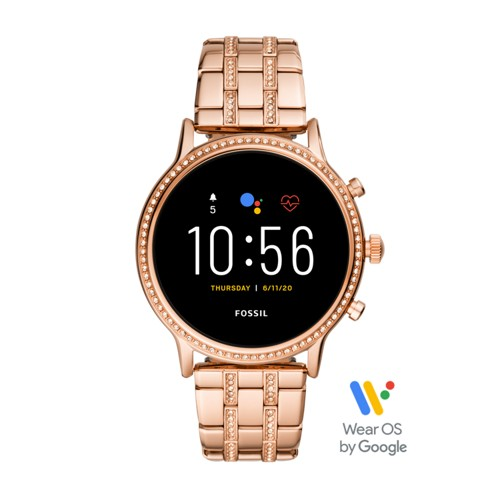fossil Gen 5 Smartwatch - Julianna HR Rose Gold-Tone Stainless Steel FTW6035