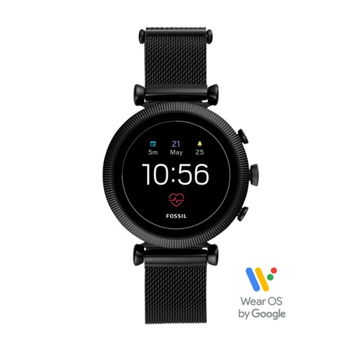 Gen 4 Smartwatch - Sloan HR Black Stainless Steel Mesh FTW6050