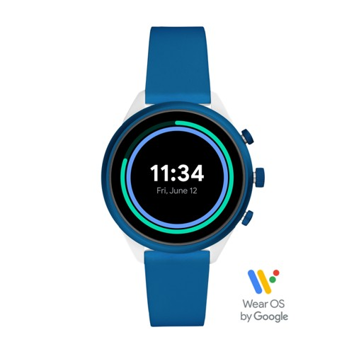Fossil Fossil Sport Smartwatch 41Mm Blue Silicone  jewelry