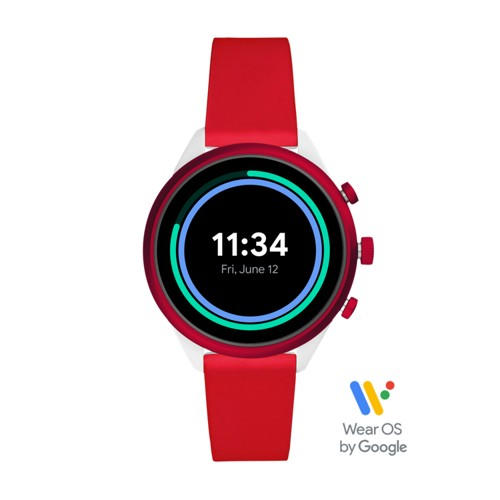 Fossil Fossil Sport Smartwatch 41Mm Red Silicone  jewelry