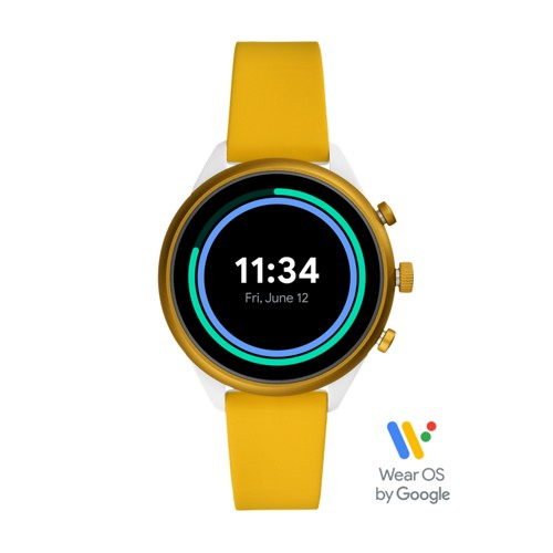 Sport Smartwatch 41mm Yellow Silicone FTW6053