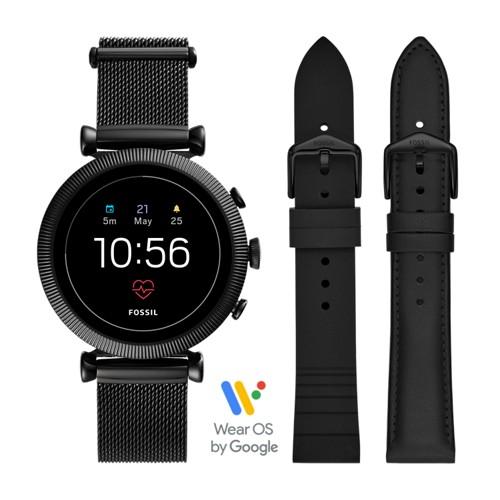 Gen 4 Smartwatch Sloan HR Black Stainless Steel Mesh FTW6055SET