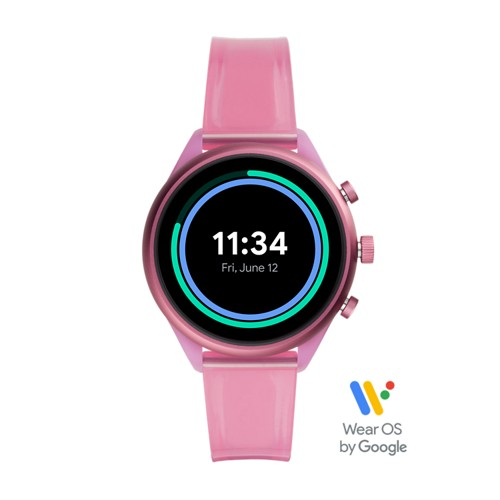 Fossil Fossil Sport 41Mm Hot Pink Silicone  jewelry