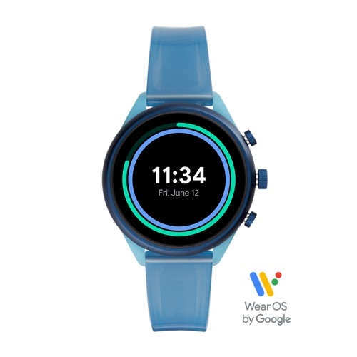 Fossil Fossil Sport 41Mm Blue Silicone  jewelry