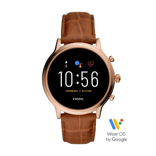 Gen 5 Smartwatch Julianna HR Brown Croco Leather FTW6063