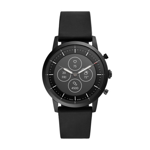 Hybrid Smartwatch HR Collider Black Silicone FTW7010
