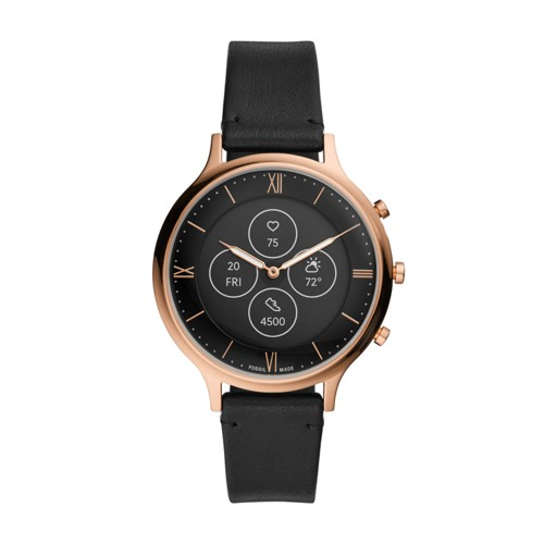 Hybrid Smartwatch HR Charter Black Leather FTW7011