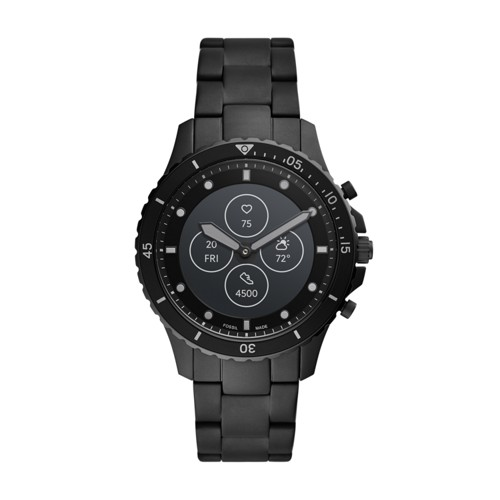 Hybrid Smartwatch HR FB-01 Black Stainless Steel FTW7017