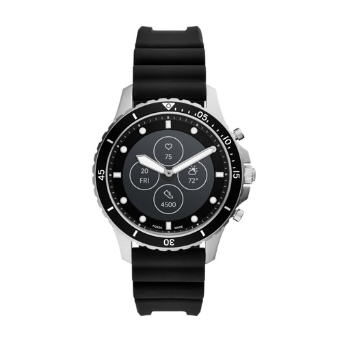 Fossil Hybrid Smartwatch Hr Fb-01 Black Silicone  jewelry