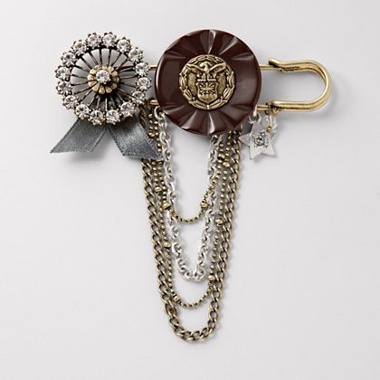 FOSSIL Mixed Military Pin