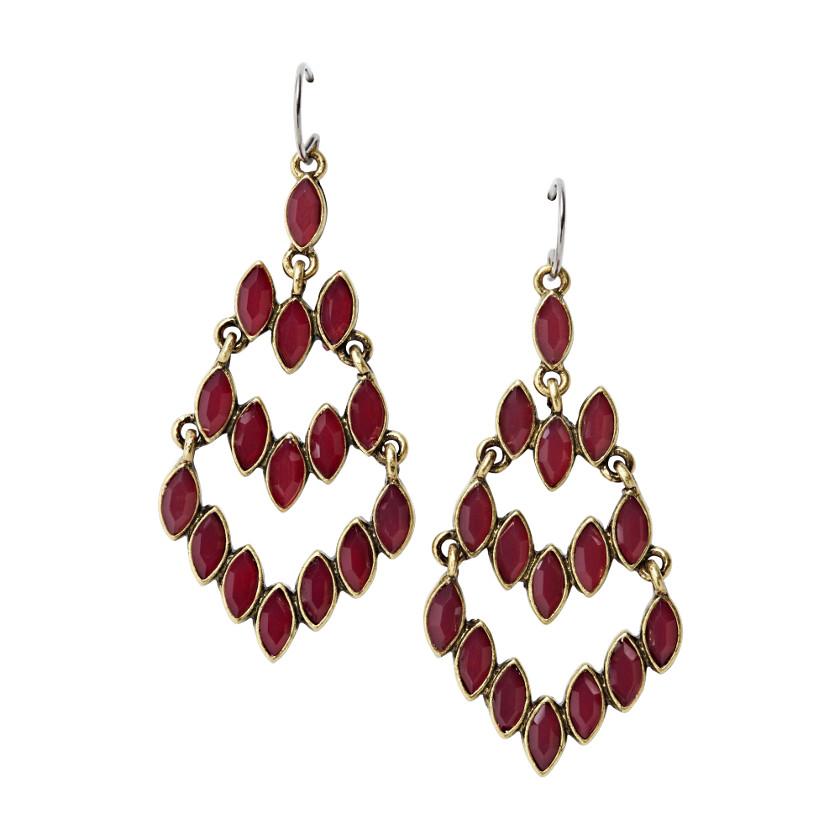 FOSSIL® Jewelry Earrings:Womens Native Chandelier Earrings JA4629