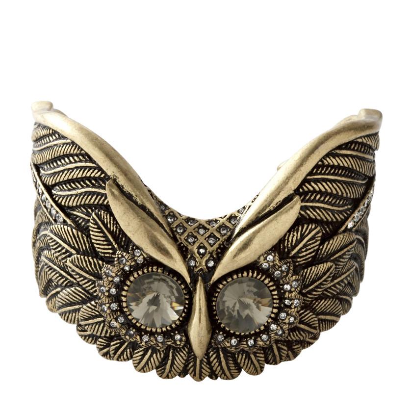 FOSSIL® Jewelry Bracelets:Womens Glam Owl Cuff Bracelet JA4807