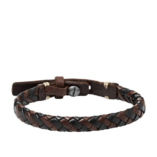 Fossil Braided Bracelet - Brown And Black  Accessory JA5932716