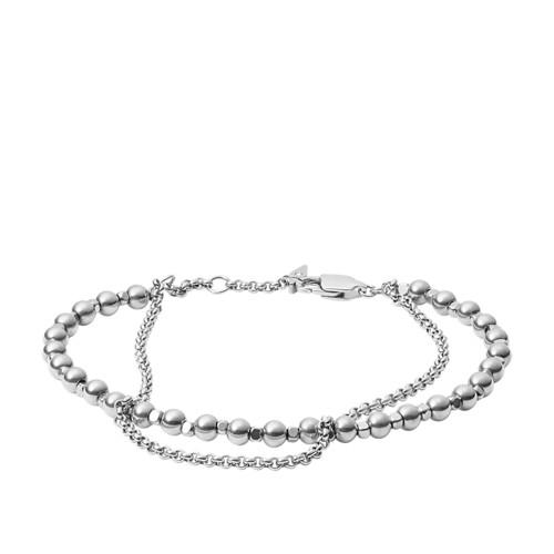 Fossil Multi Beaded Brass Bracelet  Jewelry JA6775040