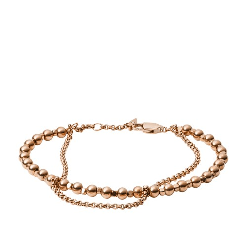 Fossil Multi Beaded Brass Bracelet JA6776791
