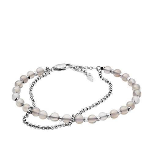 Silver Semi-Precious Double-Chain Bracelet JA6865040